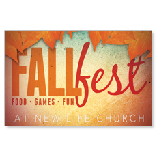 Fall Fest Orange Postcard