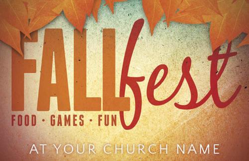 Fall Fest Orange Postcard Church Postcards Outreach