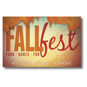 Fall Fest Orange Postcards