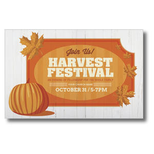 Join Us Harvest Festival Church Postcards