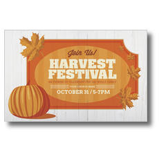 Join Us Harvest Festival Postcard