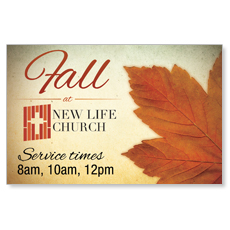 Fall Logo Card Postcard