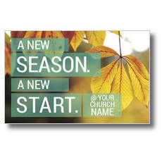 New Season New Start Postcard