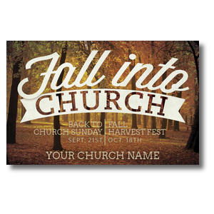 Fall Into Church Postcards