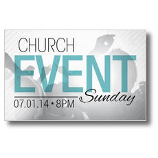 Church Event Card Postcard
