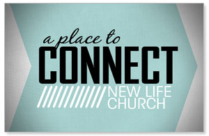 Place to Connect Welcome Church Postcards