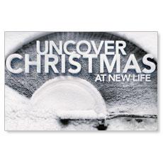 Uncover Christmas Postcard