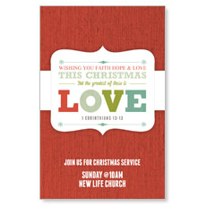 Christmas Love Postcard