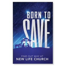 Born To Save Postcard