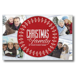 Christmas Family Church Postcards