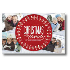 Christmas Family Postcard