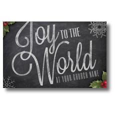 Chalk Joy Church Postcard