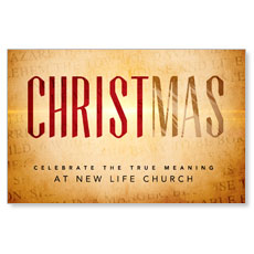 Christmas True Meaning Postcard