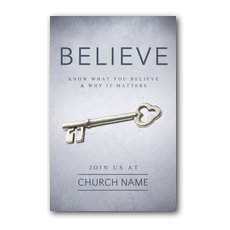 Believe Now Live the Story Postcard