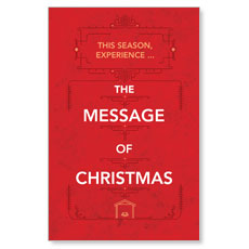 The Message of Christmas Postcard