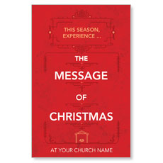 The Message of Christmas Postcard