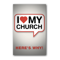 I Love My Church Postcard