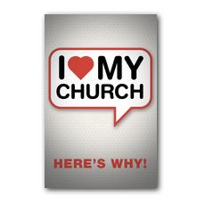 I Love My Church Postcard