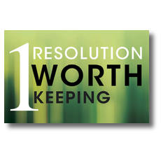 One Resolution Postcard