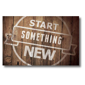 Start Something New Postcards