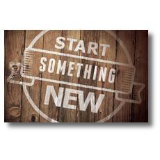 Start Something New Postcard