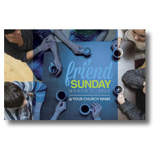 Overhead Belong Friend Sunday Postcard