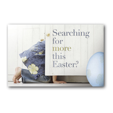 Easter Searching Postcard