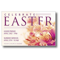 Celebrate Easter Flowers Postcard