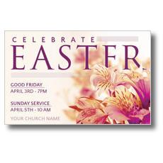 Celebrate Easter Flowers Postcard