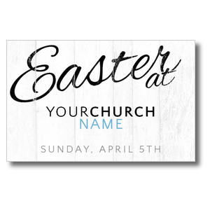 Easter Logo Wood Postcards