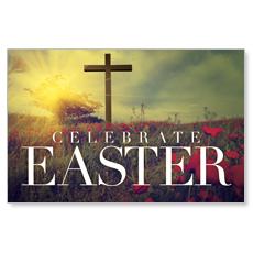 Celebrate Easter Cross Postcard
