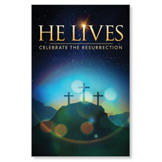 He Lives Crosses Postcard