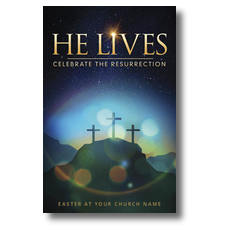 He Lives Crosses Postcard