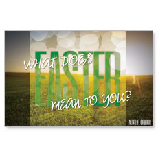 What Does Easter Mean Postcard