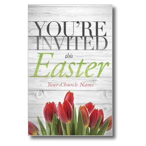 Easter Invited Wood Postcards