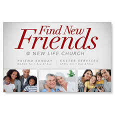 Find New Friends Postcard