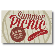 Summer Picnic Postcard