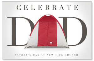 Tent Dad Church Postcards
