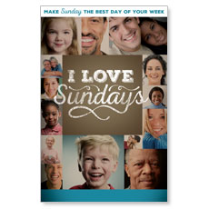 I Love Sundays Postcard