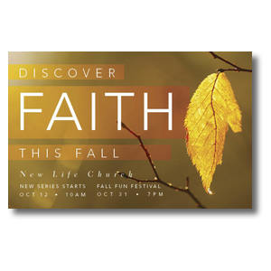 Fall Discover Faith Postcards