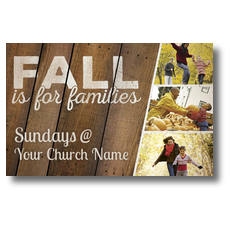 Fall Families Postcard