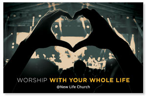 Worshiper Heart Postcards