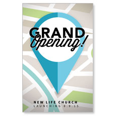 Grand Opening Pin Postcard
