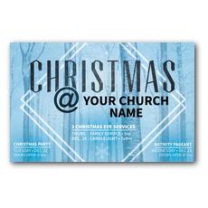 Blue Trees Christmas Postcard