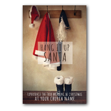 Hang It Up Santa Postcard