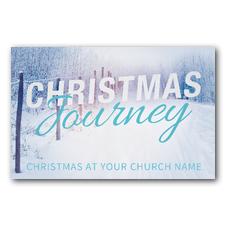 Snowy Journey Postcard