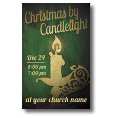 Christmas by Candlelight Postcard