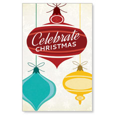 Retro Ornaments Postcard