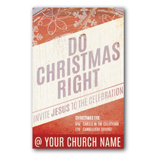 Do Christmas Right Postcard