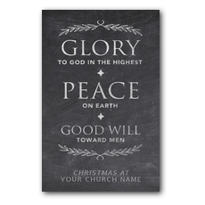 Glory Peace Goodwill Postcard